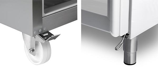 Køleskab med hjul eller fodbetjening