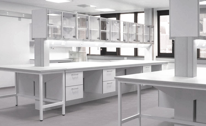 Midtbord i laboratorie