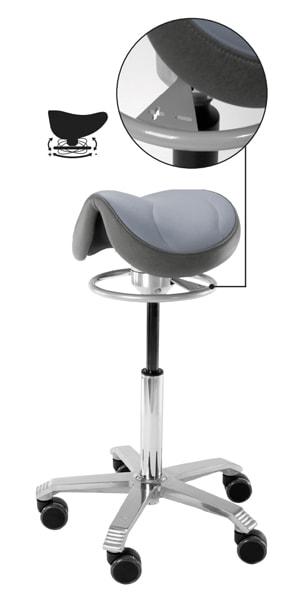Balancemekanisme giver vip i sædet på saddelstolen
