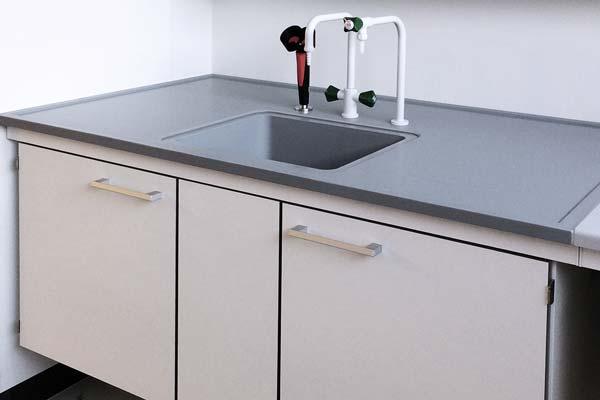 Epoxy bordplade med vask