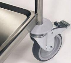 Hjul med bumper til rustfrit rullebord