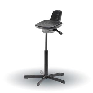 Stå støtte stol med PUR sæde og sort stel i stål